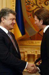 """Kurz in Kiew: """"Russische Soldaten haben in der Ukraine nichts verloren"""""""