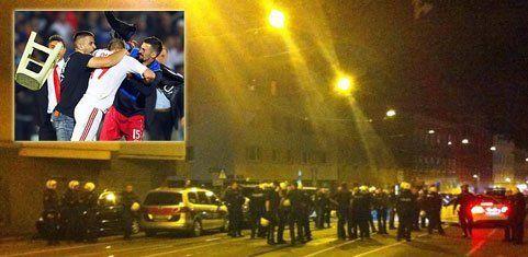 Ausschreitungen in Wien nach Skandalspiel Serbien-Albanien