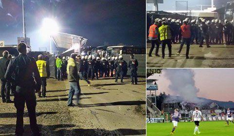 Wien-Fans randalieren in Altach – Polizei mit Bänken beworfen