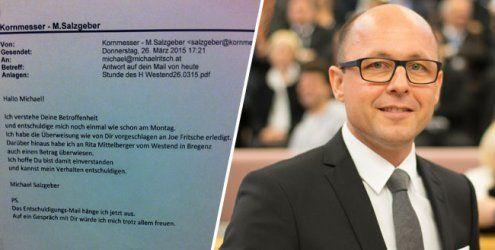 Kornmesser-Skandal: Salzgeber entschuldigt sich bei Ritsch
