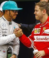Vettel sprengt Mercedes- Duo – Pole für Hamilton