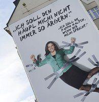 Vassilakou-Plakat: ÖVP durfte dort nicht plakatieren