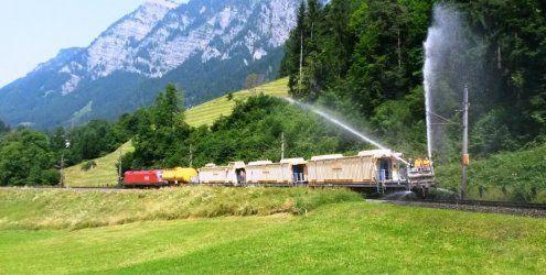 Kühlung für Arlbergbahn-Gleise: 80.000 Liter Wasser als Vorsorge