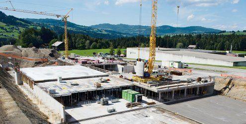 Arbeiten am Meusburger-Werk in Lingenau liegen voll im Zeitplan