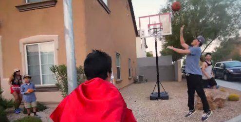 Das ist definitiv der aufwändigste Basketball-Trickshot aller Zeiten