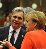 Telefonkonferenz Juncker-Merkel-Faymann zur Krise