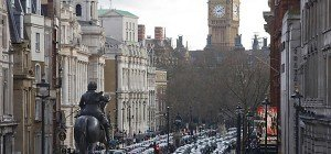 Tausende Londoner Taxifahrer protestierten gegen Uber
