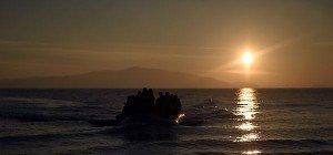 Türkische Polizei beschlagnahmte Schlepper-Boote