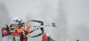 Biathlon: Julian Eberhard in Canmore auf Platz vier, Sieg für Martin Fourcade