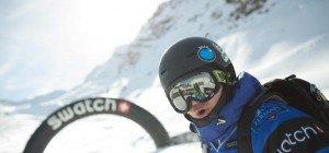 Fabio Studer auf dem Podest in Chamonix