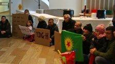 Unangemeldete Demo von Kurden im Landhaus