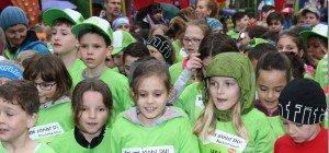Im Ziel waren alle 1400 Kids die Sieger