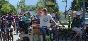 Lustenau lud zur ersten Fahrradparade