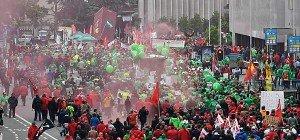 Ausschreitungen bei Großkundgebung in Brüssel