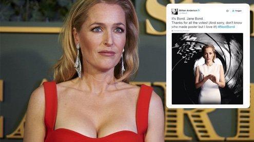 """Akte X-""Star Gillian Anderson: Wird ""Scully"" bald ""Jane Bond""?"