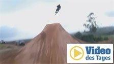 Mountainbiker verlieren die Bodenhaftung
