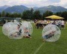 """In der """"Bubble"""" übers Feld"""