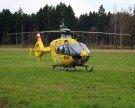 Hubschrauber im Einsatz: Schwerer Verkehrsunfall bei Schnepfau