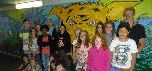 Graffiti Künstler im Einsatz