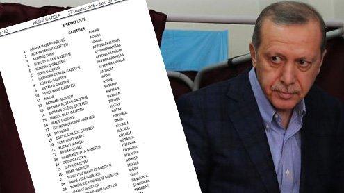 Das ist Erdogans Streichliste