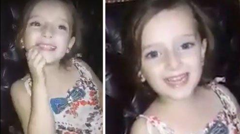 Aleppo: Mädchen singt fröhlich, bis eine Bombe einschlägt...