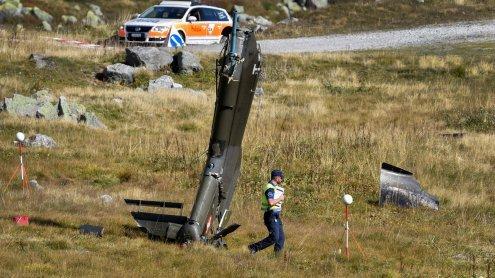 Hubschrauber am Gotthardpass abgestürzt - zwei Piloten tot