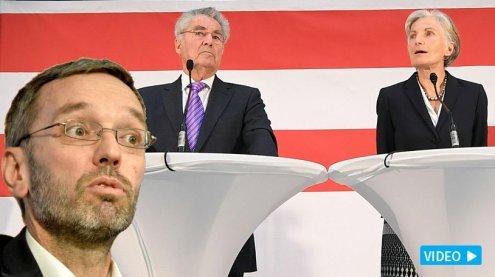 """""""Groupies der Großen Koalition"""": Kickl verspottet Fischer und Griss"""