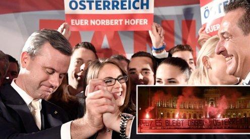 """2017 laut Strache Jahr der FPÖ – Antifa: """"Österreich du Nazi"""""""