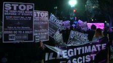 Proteste gegen Trump vor der Amtseinführung