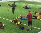 Trainingseinheit in der Sporthalle am See vom 1. FC Nürnberg