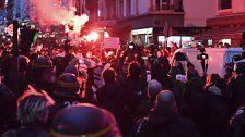 Ausschreitungen bei Demonstration in Paris