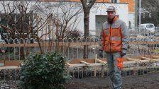 Am Götzner Rathauspark wird fleißig gearbeitet