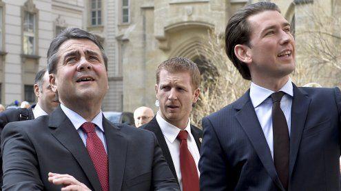 Außenministertreffen: Sebastian Kurz trifft sich mit Sigmar Gabriel