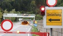 24. bis 28 April: Nächtliche Sperren im Achraintunnel