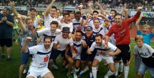 FC Blau-Weiß Feldkirch feiert den Aufstieg in die Vorarlbergliga!
