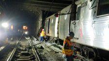 U-Bahn in New Yorker Tunnel entgleist