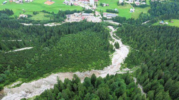 Vorarlberg: Keine Gefahr mehr nach Murenabgang