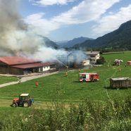 Vorarlberg: Stallgebäude in Nenzing abgebrannt