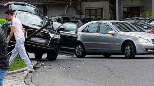 Nicht die hellste Lampe: Alko-Lenkerin fuhr auf Straßenlaterne