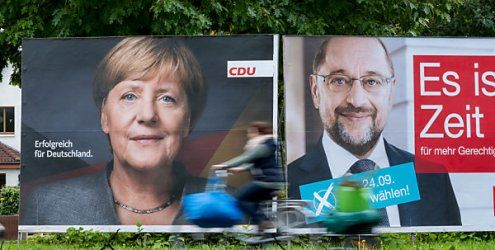 Bundestagswahl in Deutschland begonnen