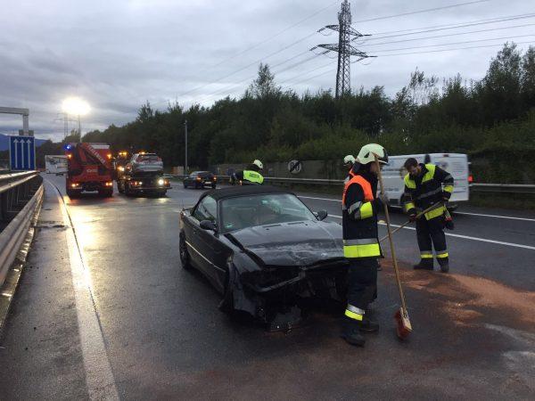 Schwerer Verkehrsunfall auf der A14 sorgt für Blockabfertigung