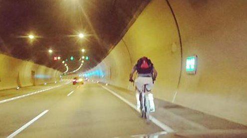 Amerikaner verirrt sich mit Fahrrad in den Achraintunnel